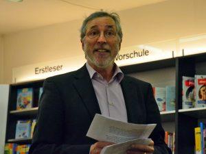 Samuel Kochs Lesung in der Universitätsbuchhandlung Görres