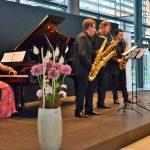 Das Alliage-Quintett im Foyer der HUK Coburg