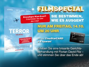 """""""Terror: Ihr Urteil"""" exklusiv im CineStar: Das Publikum entscheidet über das Ende!"""