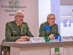 Oberfränkische Polizei bei Facebook und Twitter