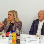 Die Bayerische Staatsministerin Melanie Huml besucht Bambergs Traditionsmetzgerei Anton Fischer Fleischwaren AG
