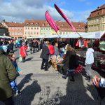 Stoffmarkt auf dem Maxplatz