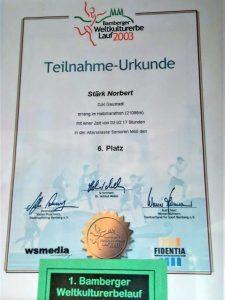 Norbert Stärk - Achte Teilnahme am Bamberger Weltkulturerbelauf