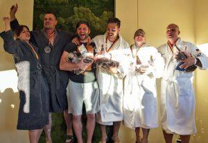 Deutsche Aufguss-Meisterschaft in der Obermain Therme Bad Staffelstein - Teamwettbewerb