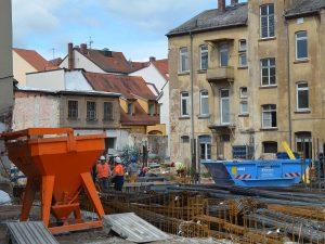 Baustellen Bamberg Quartier an den Stadtmauern