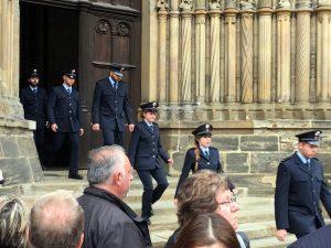 Bundespolizeiliche Vereidigung auf dem Bamberger Domplatz