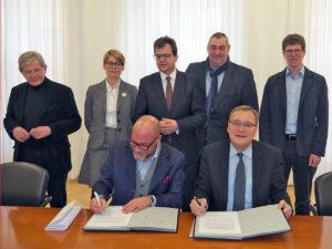 Unterzeichnung Mietvertrag Weltkulturerbe-Besucherzentrum