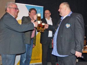 Bürgermeister Wolfgang Metzner, Jost Lohmann (Agil), Udo Ziegler (Welcome Kongress Hotels Bamberg) und Ambros Michael Mahr (Ambräusianum GmbH).