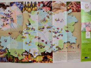 Genussregion und Landkarte neu