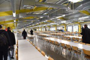 Der großzügige Speisesaal bietet Platz für 1.000 Personen und wurde neu errichtet.