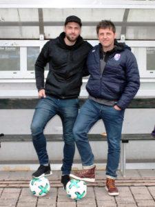 Tobias Ulbricht (links) und Cheftrainer Michael Hutzler (rechts) wollen das junge Team des FC Eintracht in der nächsten Saison gemeinsam weiterentwickeln.