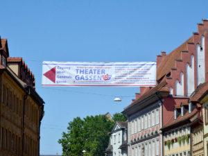 Banner für die Theatergassen