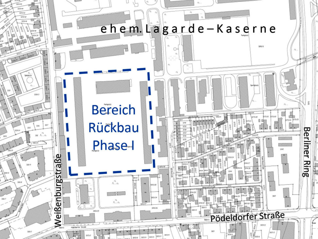 Rückbaubereich Lagarde Kaserne