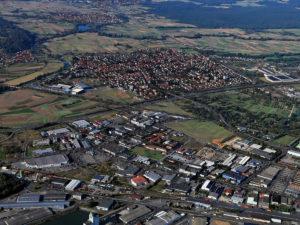 Luftbild Hallstadt Laubanger