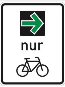 Gruenpfeil für Radfahrer