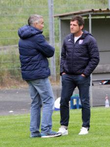 FCEB - Vorstandsmitglied Sascha Dorsch und Trainer Michael Hutzler