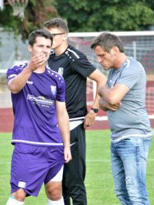 Das FCEB-Traonertrio: Nicolas Görtler, Steffen Müller und Cheftrainer Michael Hutzler