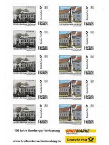 100 Jahre Bamberger Verfassung Briefmarke
