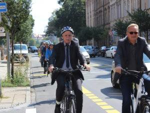 Verkehrsversuch Fahrrad