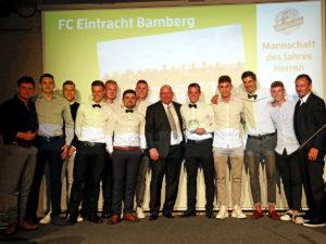 Auszeichnung für das Team des FC Eintracht Bamberg