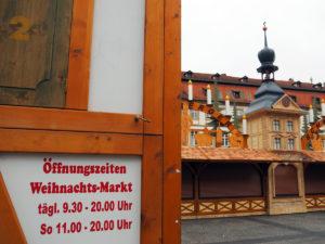 Aufbau Weihnachtsmarkt 2019 auf dem Bamberger Maxplatz