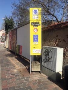 Info-Stelen im Fahrradquartier Bamberg-Mitte