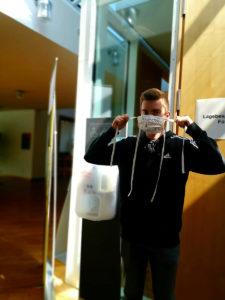 Maskenpflicht im Landratsamt Bamberg