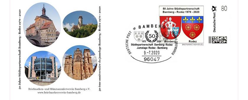 Sonderbriefmarke Bamberg- Rodez