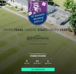 FC Eintracht Bamberg startet einzigartiges Corona-Unterstützungsprojekt