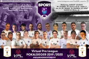 eSports-Abteilung des FC Eintracht Bamberg 2010 neuer VPL-Pokalsieger
