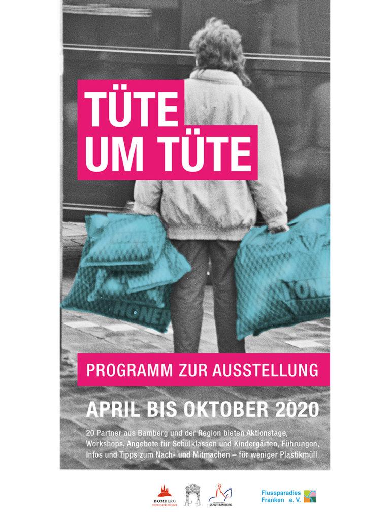 Titelbild des Rahmenprogramm zur Ausstellung Tüte um Tüte.