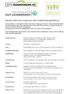 Golfanlage Leimershof Ausschreibung