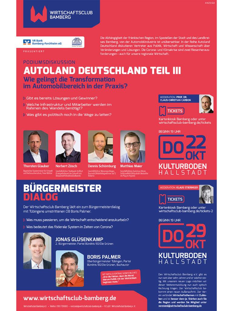 Wirtschaftsclub Plakat 2020