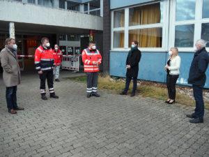 Melanie Huml besucht Schnelltestzentrum in Bamberg