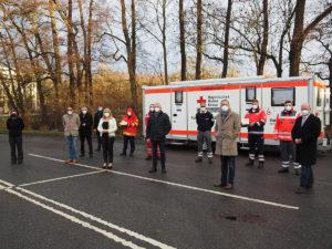 Melanie Huml besucht Schnelltestzentrum in Scheßlitz