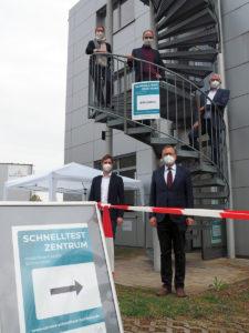 Eröffnung Schnelltestzentrum am IGZ
