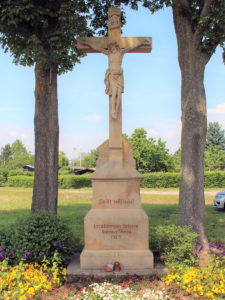 Sebastiani-Denkmal und Erlach-Kreuz in der Bamberger Nordflur