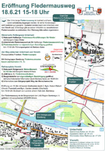 Eröffnung des Fledermauswegs im Maintal - Programm & Karte