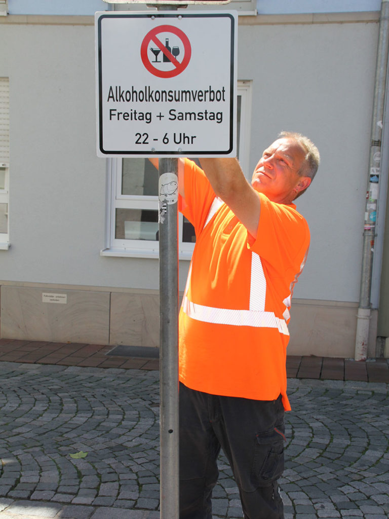 Beschilderung Alkoholkonsumverbot