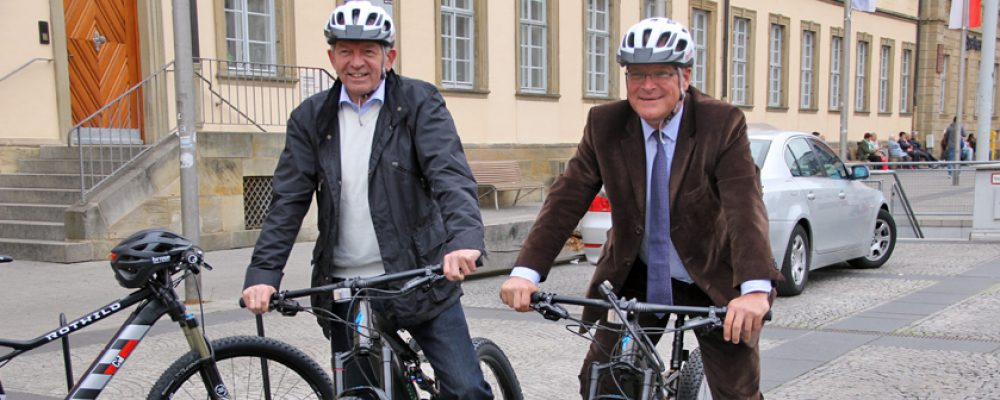 Fahrradstadt Bamberg: Grünpfeil für Radfahrer wird getestet