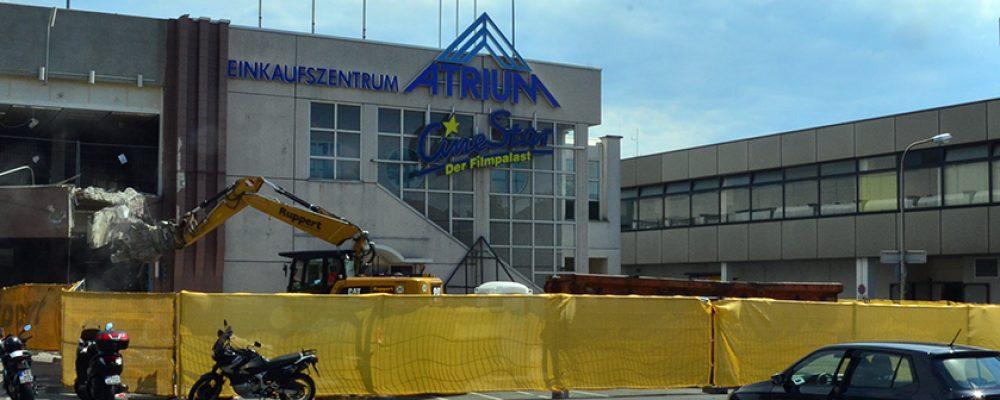 Abbrucharbeiten am Bamberger Atrium haben begonnen