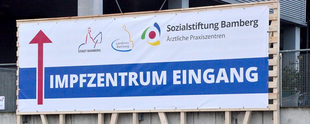 Impfzentrum Bamberg Stadt und Landkreis in der Brose Arena einsatzbereit