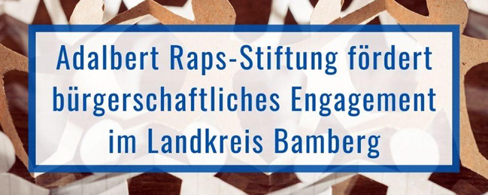 Adalbert Raps-Stiftung fördert bürgerschaftliches Engagement
