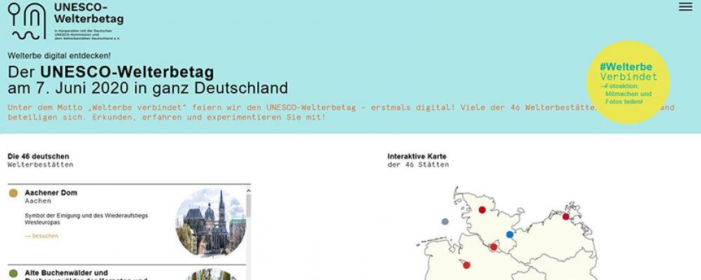 UNESCO-Welterbetag am 7. Juni erstmals digital