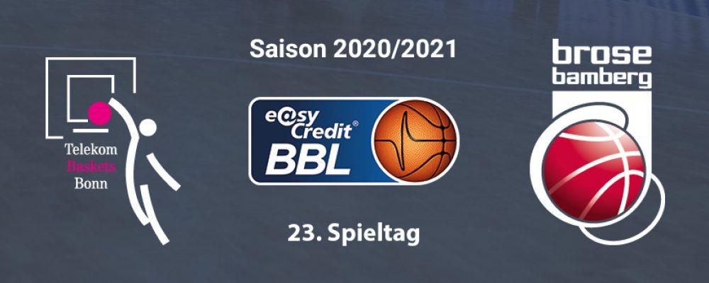 Heiße Saisonphase startet für Bamberg in Bonn