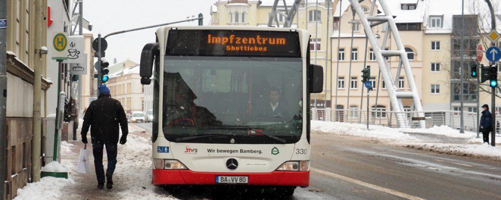 Bus-Shuttle zum Impfzentrum Bamberg