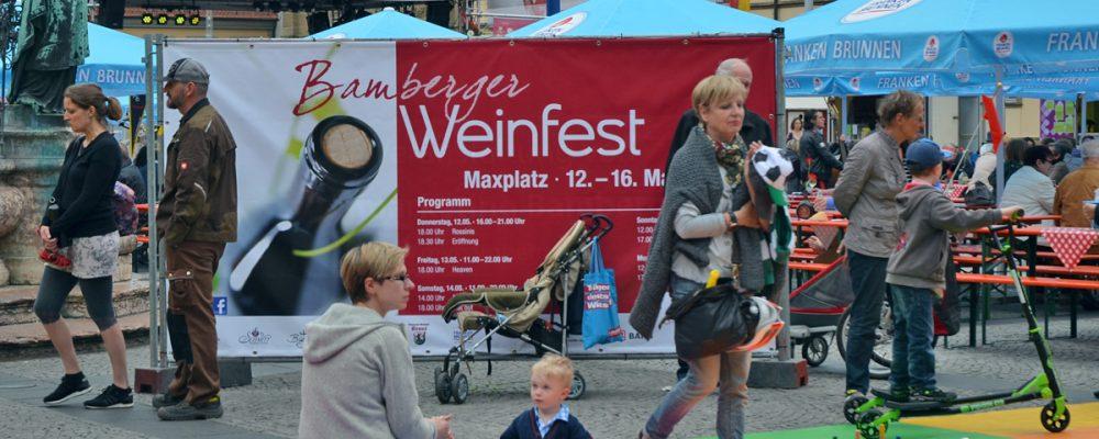 Edle Tropfen: Weinfest auf dem Bamberger Maxplatz