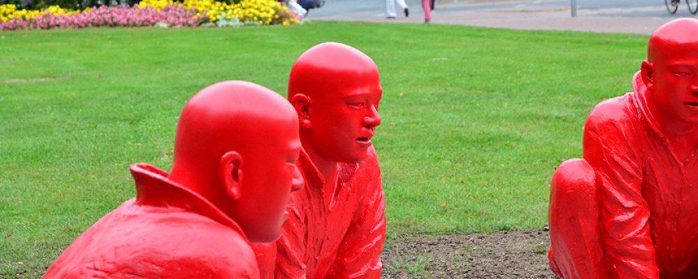 """Sie sind wieder da. Die """"roten Männer""""."""