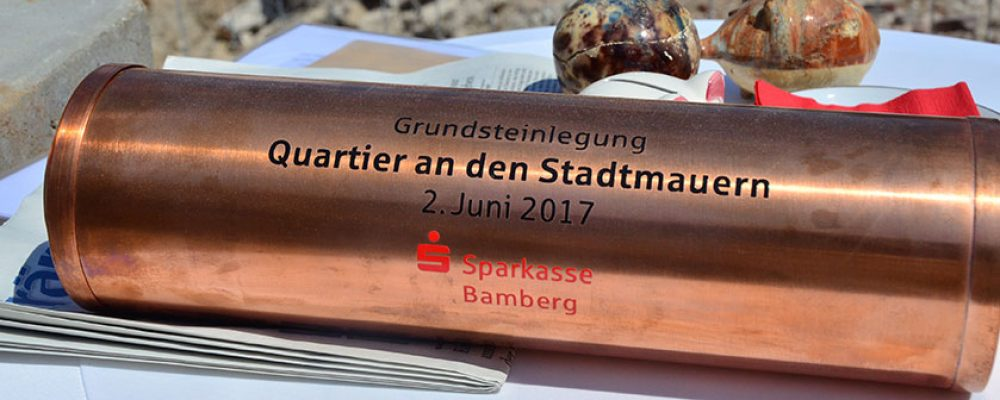 """""""Quartier an der Stadtmauer""""-Grundsteinlegung"""