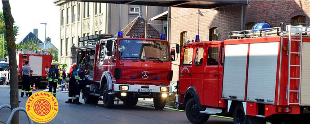 Dachstuhl in Flammen: Brand in der Malzfabrik Weyermann